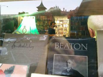 bookshop gig through the window