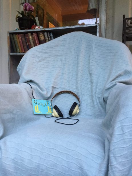 The Gather podcast listening chair