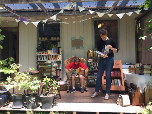 Backyard Bookshop visitors