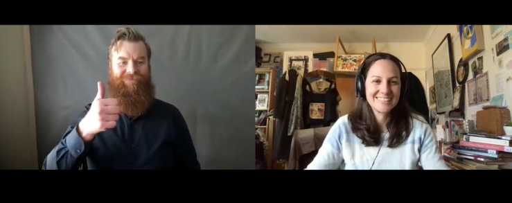 Ramas McRae and Amy on zoom interview